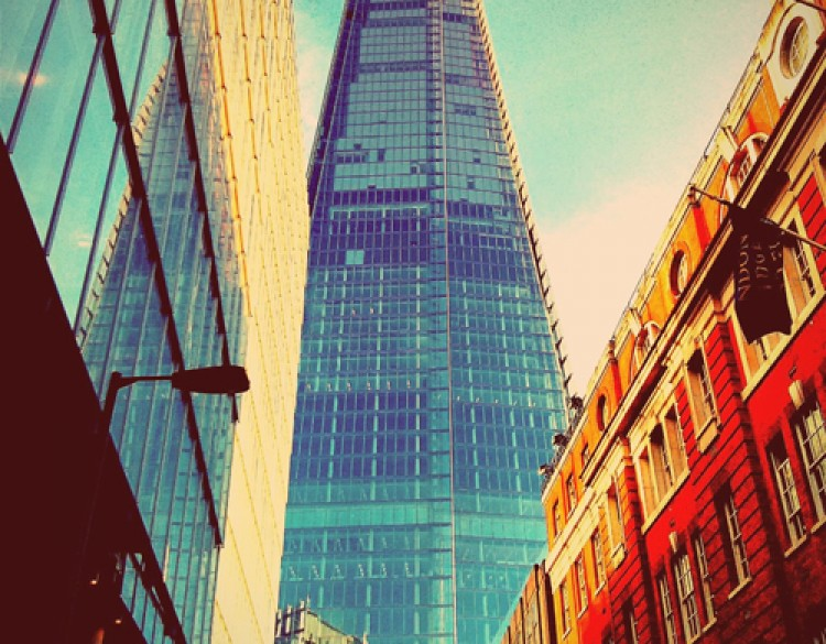 Image showing a view of the Shard Building form street level in London