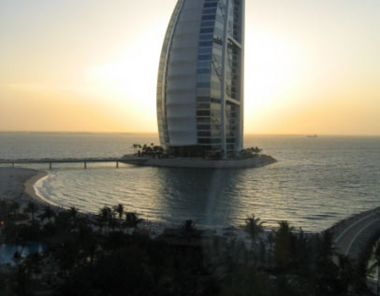 View of Burj al-Arab, Dubai, UAE